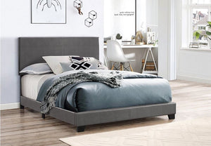 Erin Faux Leather Grey Bed