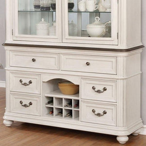 White Buffet and Wine Cellar - United Furniture Outlet