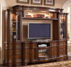 Classic Glass Entertainment Center - United Furniture Outlet