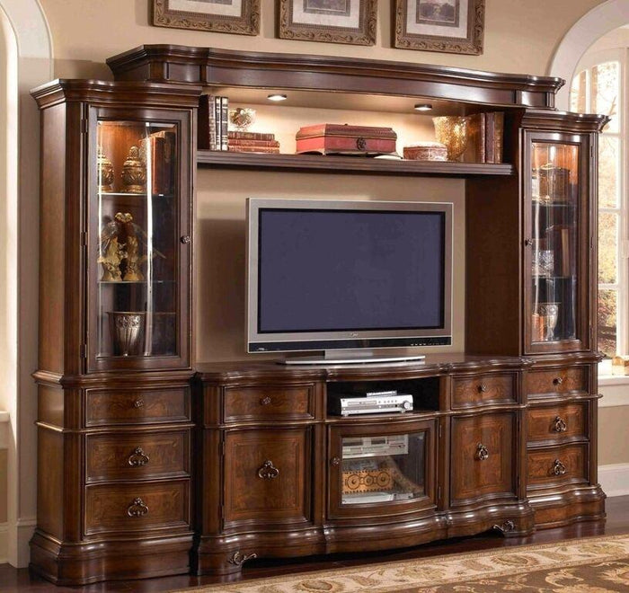 Classic Glass Entertainment Center
