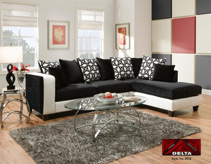 Implosion Black and White Sectional