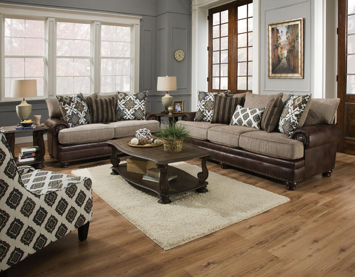 Yellowstone Chocolate Sofa, Loveseat and Ottoman