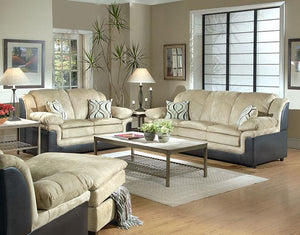 San Marino Chocolate Sofa and Loveseat Serta