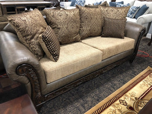 Radar Brown Sofa, Loveseat and Chaise