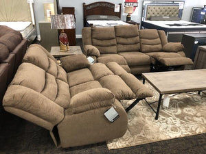 Tulen Brown Sofa and Loveseat Ashley
