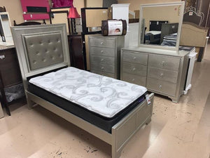 Lyssa Champaigne LED Twin Bedroom Set