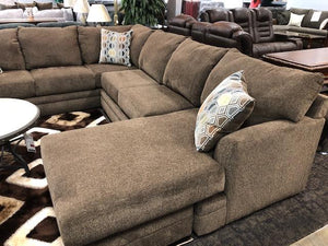 Latte Brown Chaise Sectional - United Furniture Outlet
