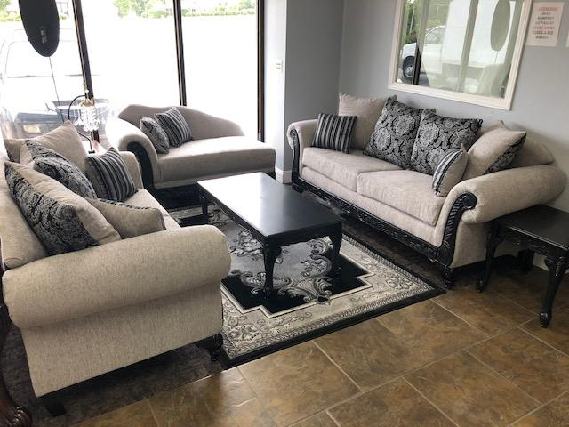 Elegant Grey Sofa, Loveseat and Chaise
