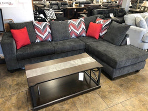 Anders Charcoal Grey Sectional