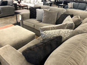 Carlsbad Brown Sectional with Ottoman