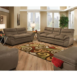Luna Brown Sofa and Loveseat - United Furniture Outlet