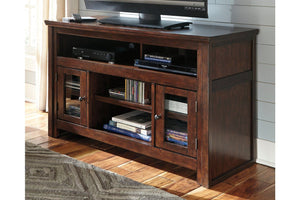 "Harpan Reddish Brown TV Stand 72"" - United Furniture Outlet"