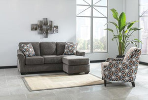 Brise Grey Sofa Chaise - United Furniture Outlet