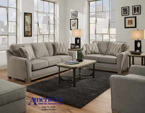 Love Artifact Pewter Sofa and Loveseat