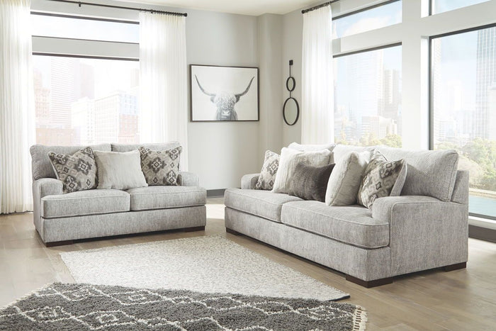 Mercado Pewter Sofa and Loveseat