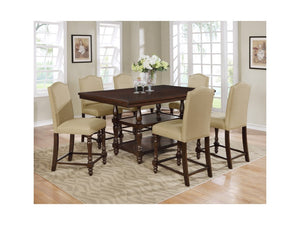 Langley Counter Height Table with 6 Chairs