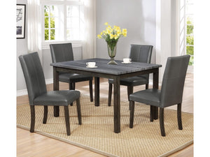Pompei Grey Table with 4 Chairs