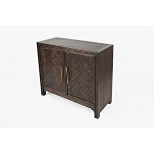 Gramercy Dark Chevron 2 Door Accent Cabinet Jofran