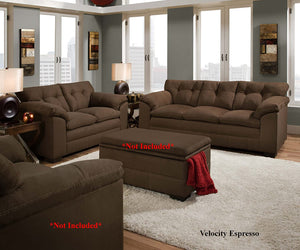 Velocity Brown Sofa and Loveseat