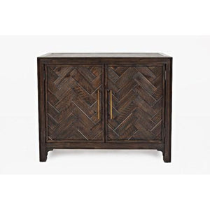 Gramercy Dark Chevron 2 Door Accent Cabinet - United Furniture Outlet