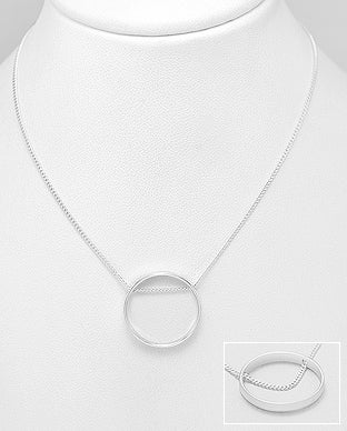 Circle Lining Necklace