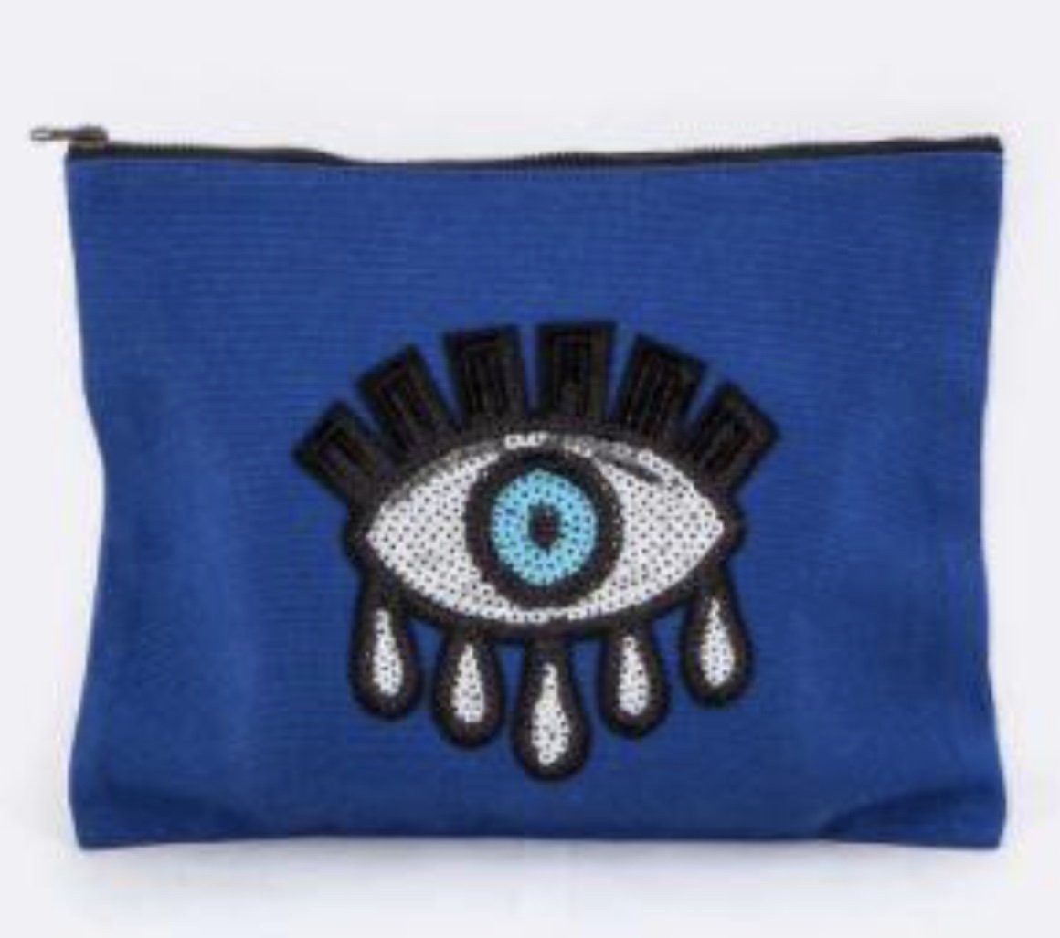 Canvas Sequin Eye Pouch