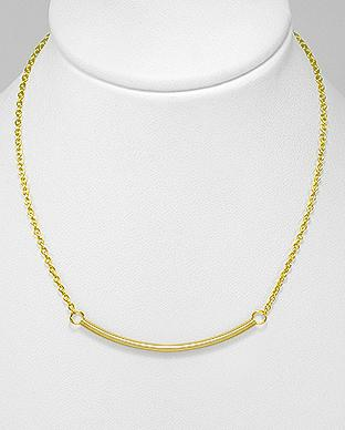Gold bar necklace by Kesley, Girlwith3jobs