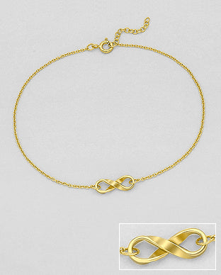 Infinity Gold Anklet by KesleyBoutique.com, Girlwith3jobs.com, vacation, holiday vacation jewelry, gifts for her