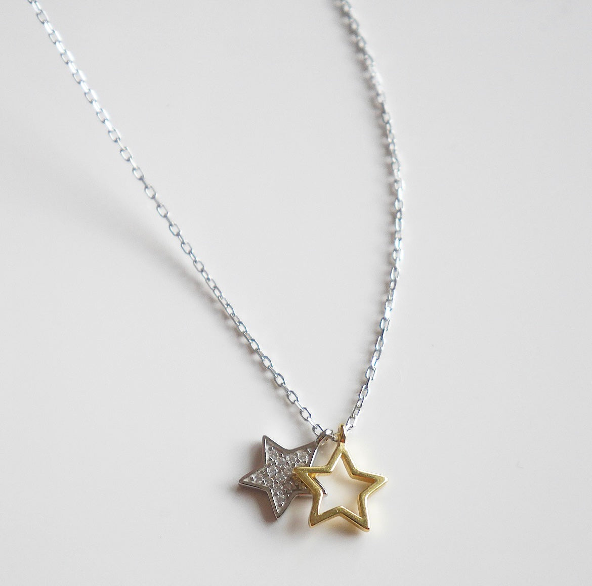 Mixing Metals Daily Star Necklace