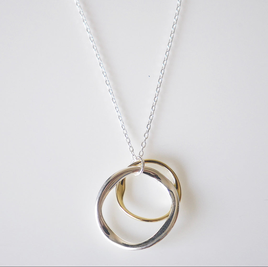 Circles Mixed Metals Daily Necklace