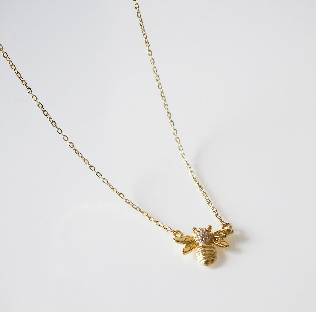 Bee Sparkle Sting Necklace