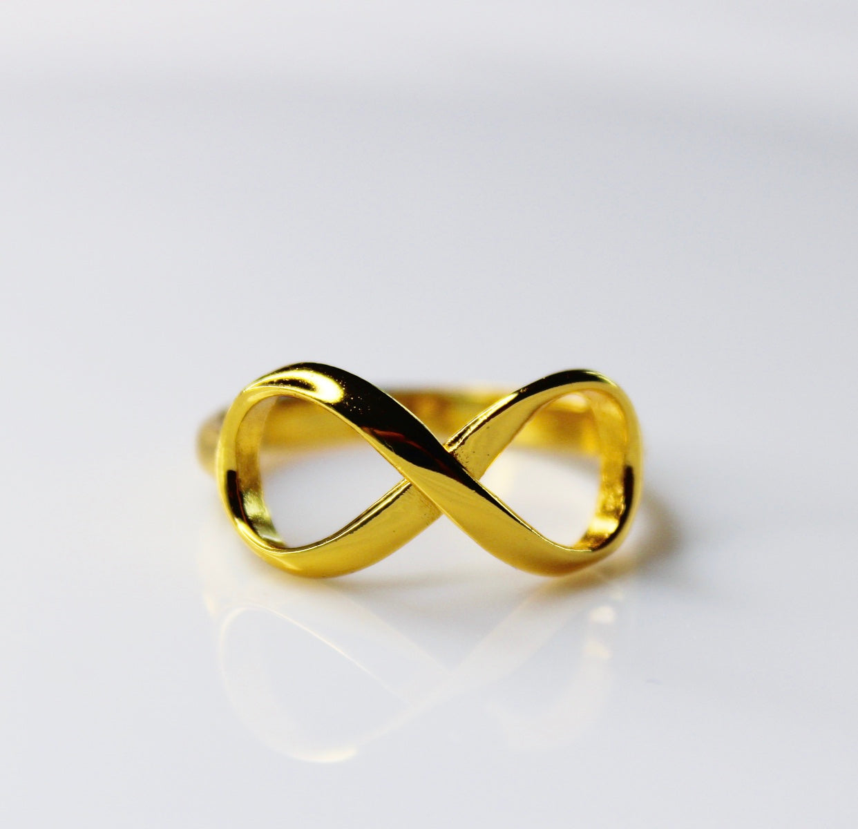 Infinity Gold Ring in sterling silver by KesleyBoutique.com, Girlwith3jobs.com, Holiday gifts, holiday gifts, jewelry gifts