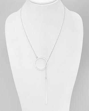 Circle Bar Y Lux Long Necklace