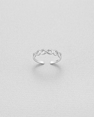 infinity toe ring in .925 sterling silver by KesleyBoutique, Girlwith3jobs.com, rings, gifts, gifts for her