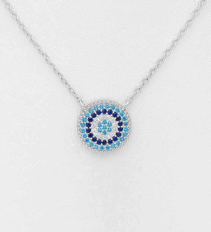 Light Blue Eye Necklace