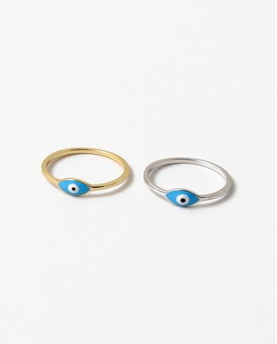 Little Blue Eye Ring