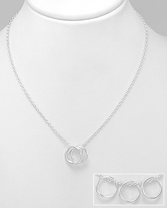 Three Resolutions Silver Necklace