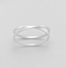 x ring in sterling silver by Kesley