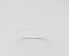 dainty sterling silver band by kesley