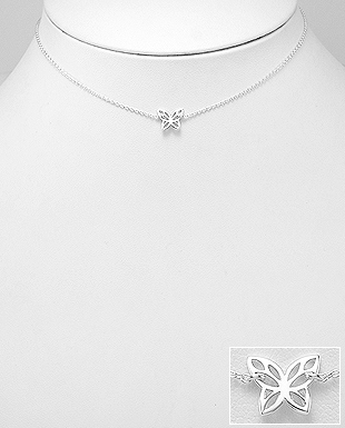 Butterfly Choker in Sterling Silver, butterfly jewelry, butterfly necklace, chokers, sterling silver choker*, festival jewelry, blogger style, influencer jewelry by KesleyBoutique.com, Girlwith3jobs.com