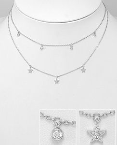 star choker by Kesley, KesleyBoutique.com, Girlwith3jobs, choker, layered necklace, layered jewelry, star necklace, necklace with stars, delicate necklace, jewelry gifts, birthday gifts for her, birthday jewelry, street style, trendy, trendy necklace, new jewelry, nice jewelry, cocktail necklace, holiday necklace, choker*, sterling silver necklace, sterling silver choker, buzzed, trends, sorority gifts, college