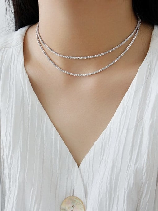 Sparkling Cauliflower Chain Short Necklace