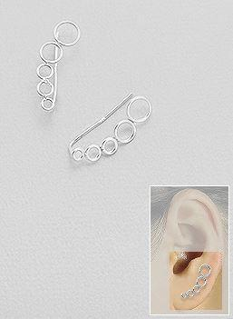 Bubbly Chic ear crawler, ear pins, hipster jewelry, edgy earrings, piercings, blogger style, street style ring, influencer jewelry, adjustable earrings, festival fashion, gifts for her, sterling silver earrings, ear crawler*, fashionable earrings, influencer jewelry, trendy jewelry  by KesleyBoutique.com, Girlwith3jobs.com