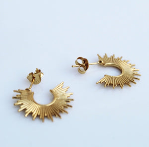 Spike Gold Earrings by KesleyBoutique.com, Girlwith3job.com