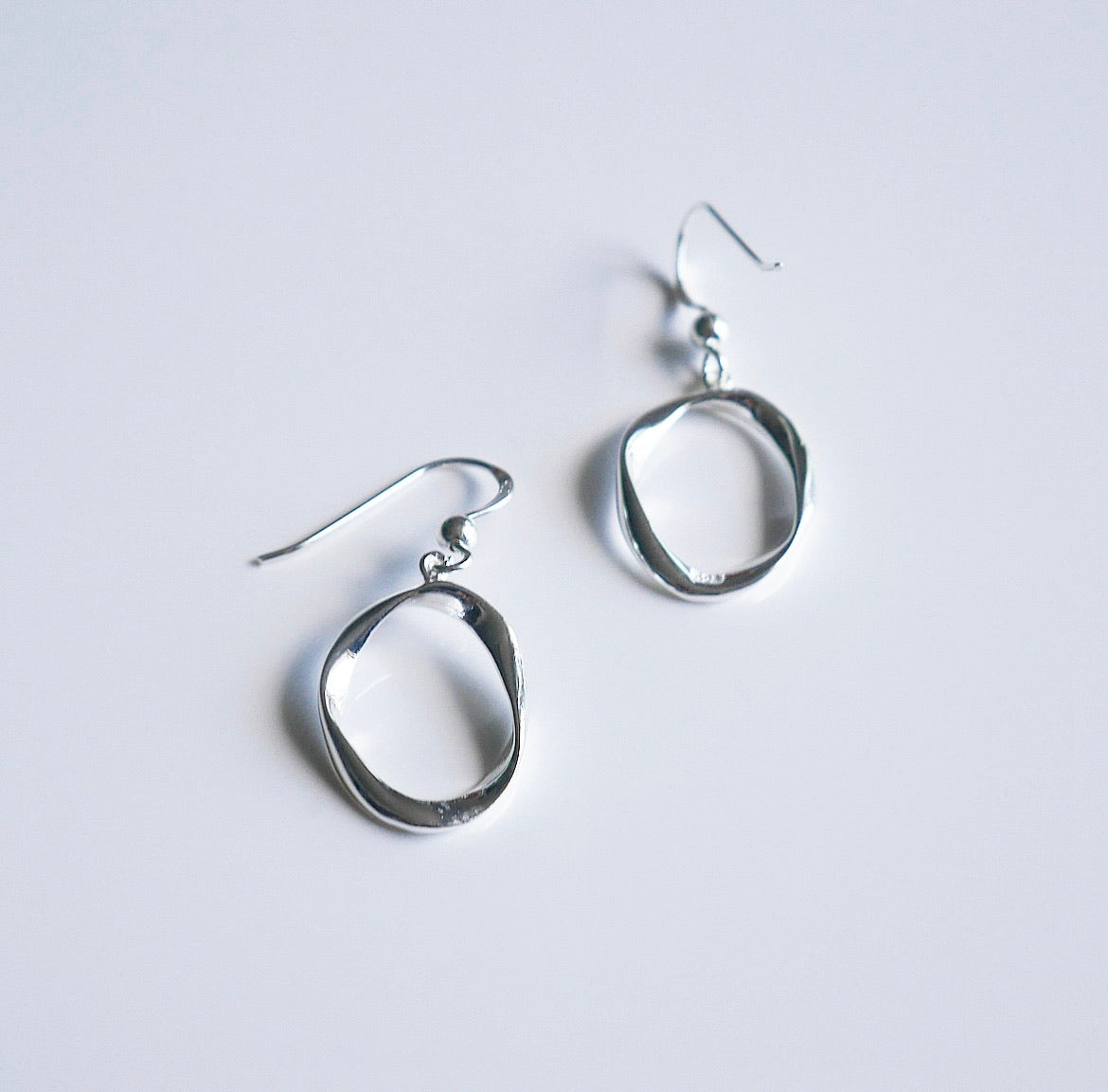 Silver Vibes Open Circle Earrings