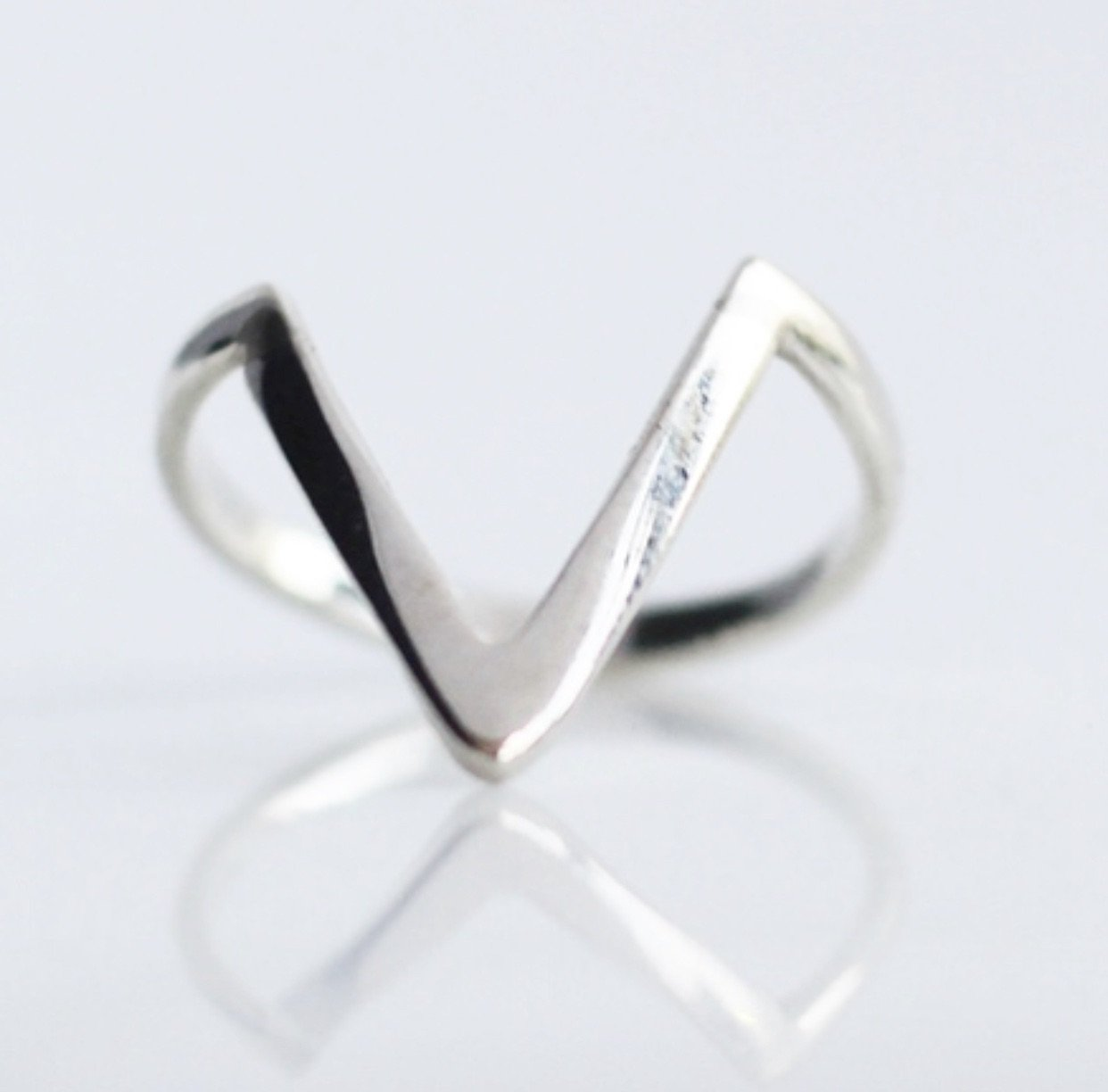 Triangle Sterling Silver Ring by KesleyBoutique, Girlwith3jobs.com, Jewelry in Miami, Triangle ring, Gifts for her, Jewelry Store in Miami, Holiday gifts