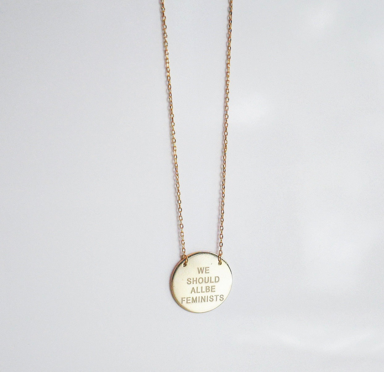 we should all be feminist necklace, we should all be feminist necklace in gold, feminist necklace, cute jewelry,  gift for her, jewelry for women, girlwith3jobs, kesleybotique.com, Gold necklace for women , feminist necklace, pride necklace , jewelry store in Miami, jewelry store in NYC, we should all be feminist quote necklace, we should all be feminist quote necklace gold, we should all be feminist quote