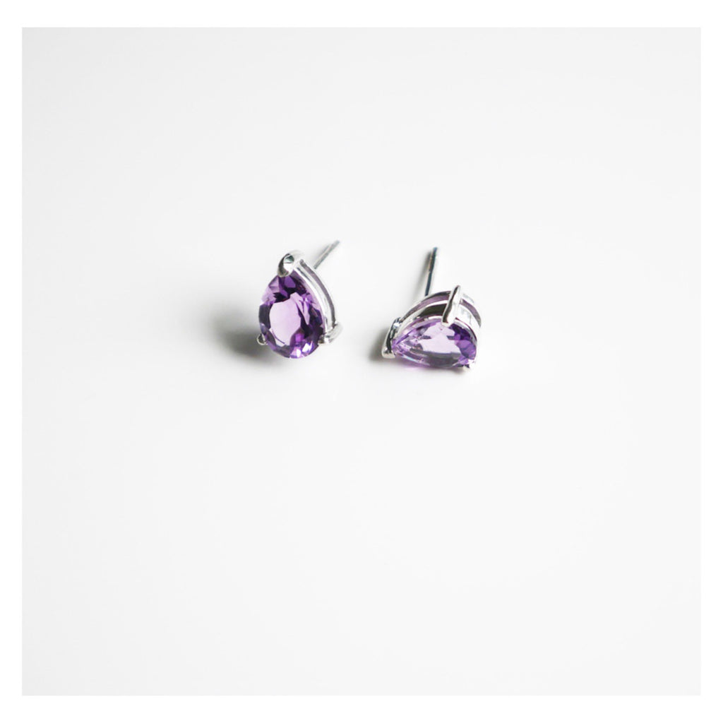 In the City Amethyst Earrings