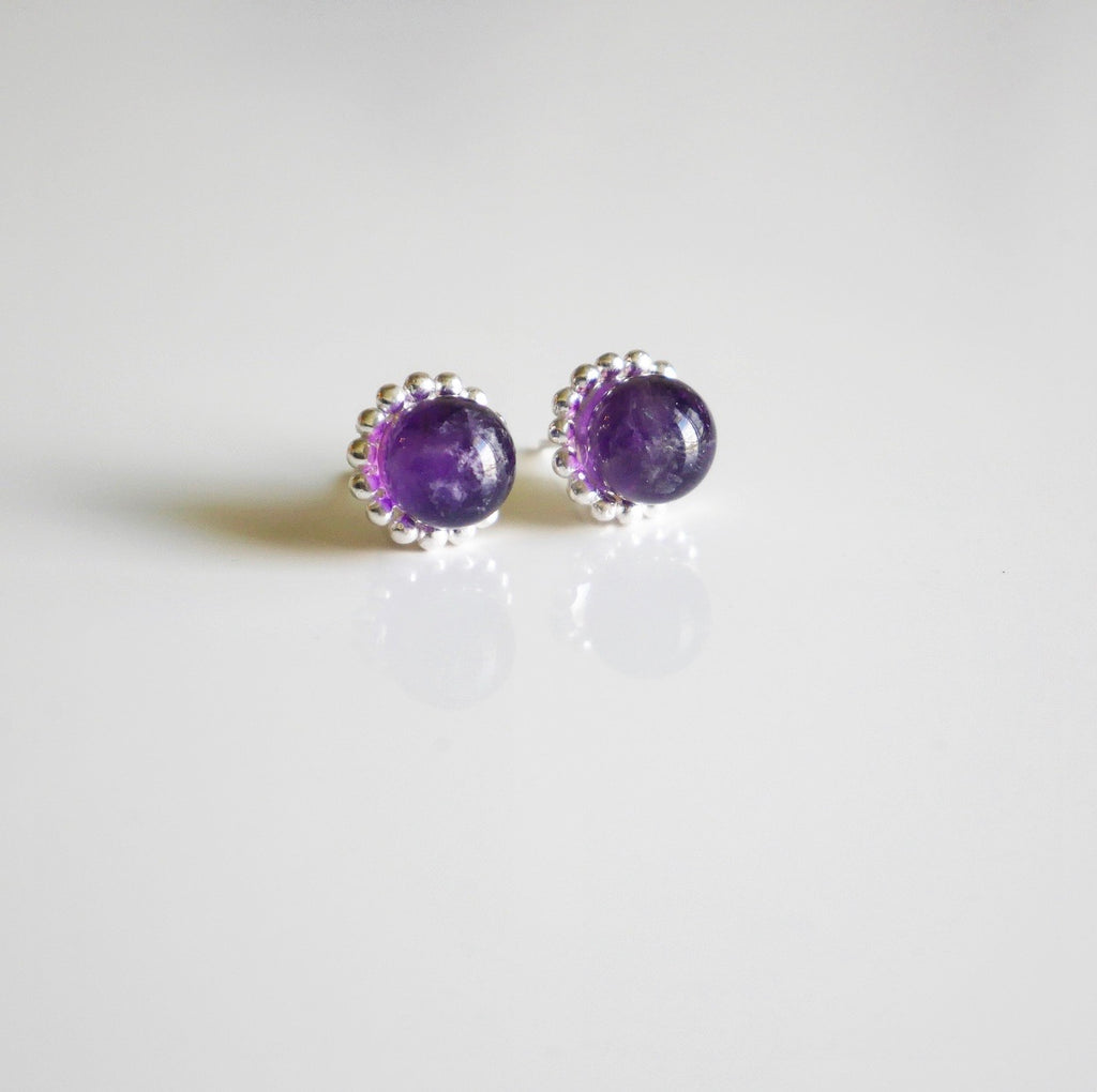 Amethyst Candy Gemstone Earrings