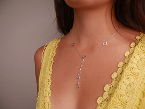 Kesley Flower Lariat Necklace